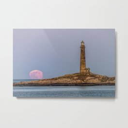 Moonlite mirage and the north tower Metal Print