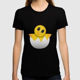Hatching baby chick Emoji T-shirt
