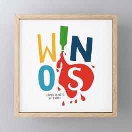 W.I.N.O.S. Framed Mini Art Print