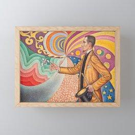 """Paul Signac """"Portrait de Félix Fénéon"""" Framed Mini Art Print"""