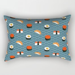 Sushi Pattern Rectangular Pillow