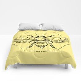 Pen&Ink Bee Tattoo Comforters