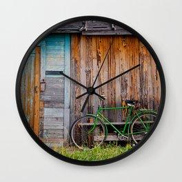 Countryside Cabin & Bike Wall Clock