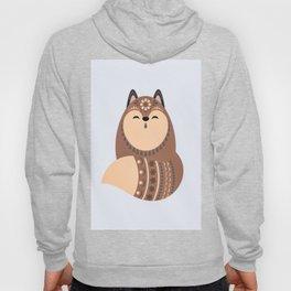 Folkloric Christmas Winter Fox Hoody