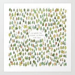 A Tree Falls Art Print