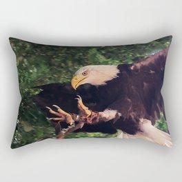 the eagle is landing Rectangular Pillow