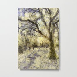 Summertime Forest Van Gogh Metal Print
