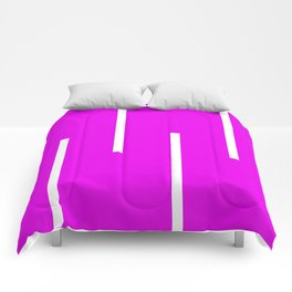 Abstract Retro Stripes Pinky Comforters