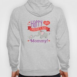 Happy Mothers Day Message Best Mom Elephant Gift Hoody