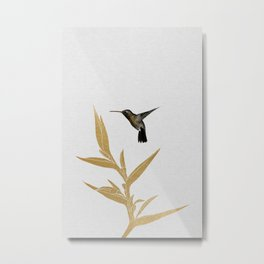 Hummingbird & Flower II Metal Print