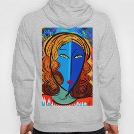 Blue Girl série portrait pop and fauve art Hoody
