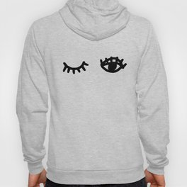 Graphic black and white eyes Hoody