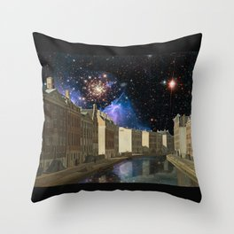Space Time Continuum with Gerrit Adrieansz Throw Pillow