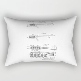 patent art Brown Toothbrush 1939 Rectangular Pillow