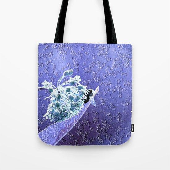Blooming in the sky (blue-purple granite) Tote Bag