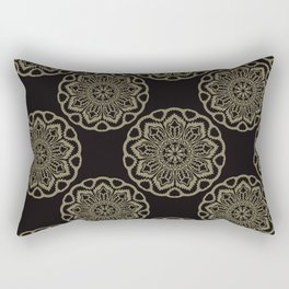 Circle Flourish Floral Mandala Rectangular Pillow