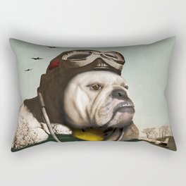 "Wing Commander, Benton ""Bulldog"" Bailey of the RAF Rectangular Pillow"