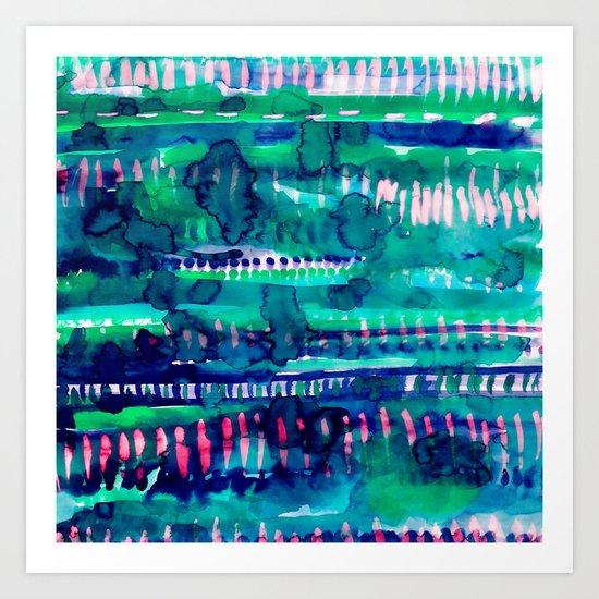Splatter Rainforest Art Print