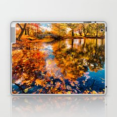Boston Fall Foliage Reflection Laptop & iPad Skin