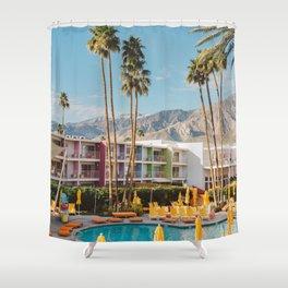 Palm Springs Saguaro Shower Curtain