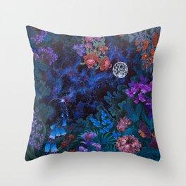 Space Garden Cosmos Throw Pillow