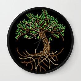 Rope Tree of Life. Rope Dojo 2017 black background Wall Clock