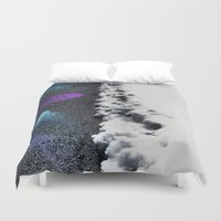 borderlands Duvet Covers featuring Borderlands by Julie Maxwell