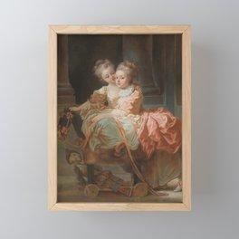 Jean Claude Richard, Abbé de Saint-Non - The Two Sisters Framed Mini Art Print