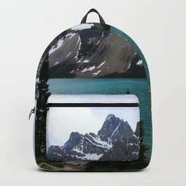 Bow Lake With Crowfoot Mountains Backpack