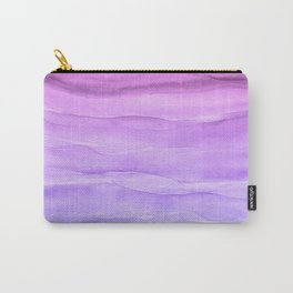 Abstract Watercolor Layers - Purple Ombre Carry-All Pouch