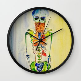 Hipster with a Beard and other Vital Organs Wall Clock