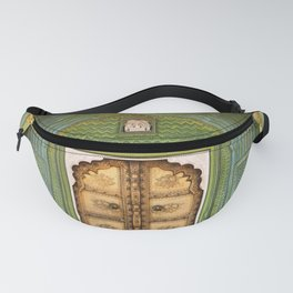 Green gate City Palace Jaipur, India Fanny Pack