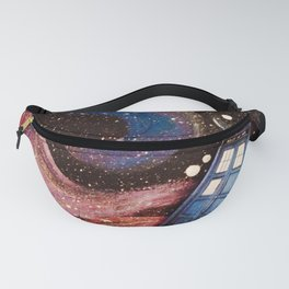 TARDIS in space Fanny Pack