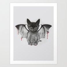 Cat Bat Art Print
