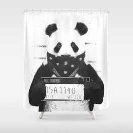 Bad panda Shower Curtain