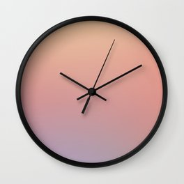 AFTER THOUGHTS - Minimal Plain Soft Mood Color Blend Prints Wall Clock