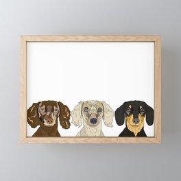 Triple Doxies Framed Mini Art Print