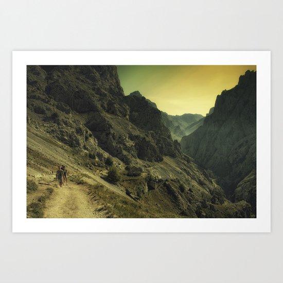 Cares. Picos d'Europa, Spain. Art Print