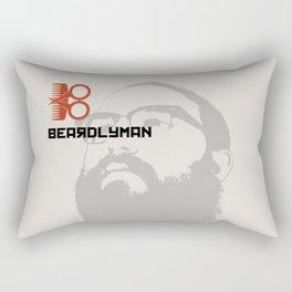 Beardlyman Face on Off-White Rectangular Pillow