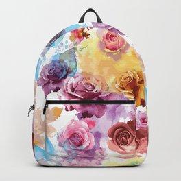 Watercolor Roses Backpack