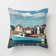 Island Wharf Throw Pillow