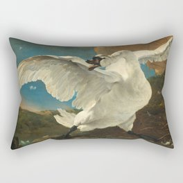 The Threatened Swan by Jan Asselijn Rectangular Pillow