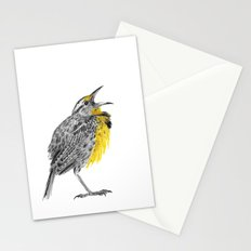 Eastern meadowlark Stationery Cards