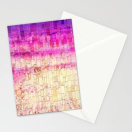 Pink Sea Mosaic Stationery Cards
