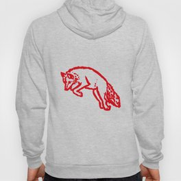 Jumping Red Fox on White Background Hoody