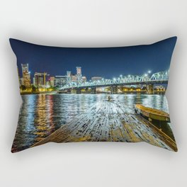 Lonely on the Dock Rectangular Pillow