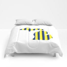 Maize and Blue Michigan Comforters