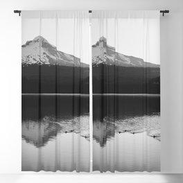 Wild Mountain Sunrise - Black and White Nature Photography Blackout Curtain