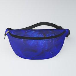 Royal Blue Fractal dahlia Fanny Pack