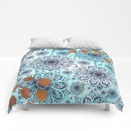 Aqua Mandala Comforters